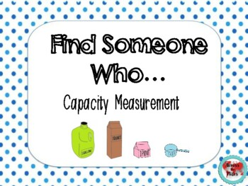 Capacity Measurement Find Someone Who