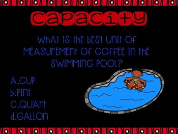 Capacity Measurement PowerPoint using Cups, Pints, Quarts and Gallons