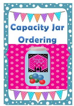 Capacity Measuring Order the Jars