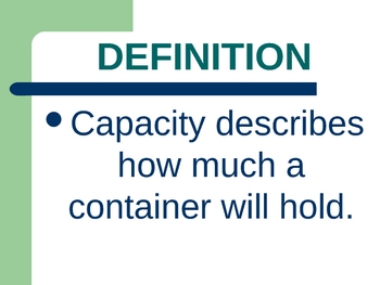 Capacity PowerPoint Notes