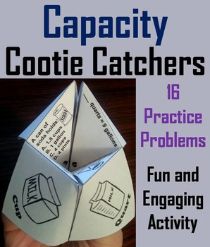 Capacity Practice Activity (Ounces, Cups, Pints, Quarts, Gal.) 3rd 4th 5th Grade