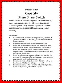Capacity Share Share Switch (2 sets)