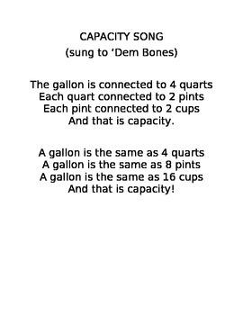 Capacity Song