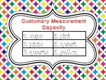 Customary Capacity Task Cards QR Code