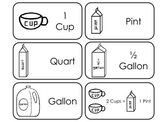 Capacity Units printable Picture Word Flash Cards. Prescho
