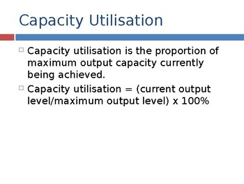 Capacity Utilisation / Capacity Utilization / Outscourcing Business PPTs