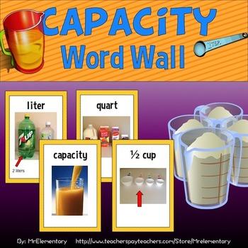 Capacity Vocabulary Word Wall