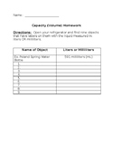 Capacity (Volume) Homework