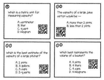 Capacity / Volume Task Cards