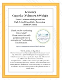 Capacity (Volume) & Weight Conversions (High-school Quantitative Reasoning)