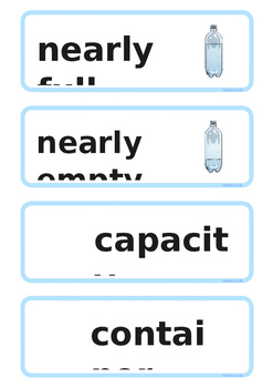 Capacity Word Cards