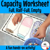 Capacity Worksheet: Full, Half Full, Empty