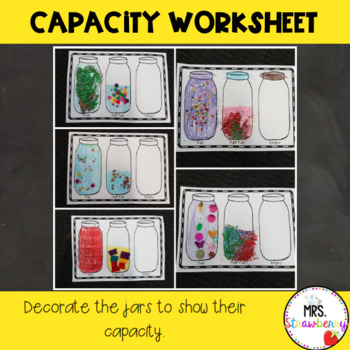 Capacity Worksheet Full Half Full Empty 3390962