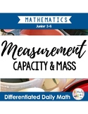 Capacity and Mass: Differentiated Daily Math for Grade 3-6 in Ontario