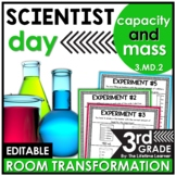 Capacity and Mass  - Scientist Real World Math Activity