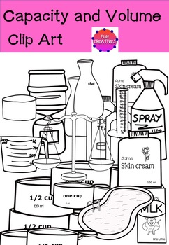 Capacity and Volume Clip Art (Metric and Imperial)