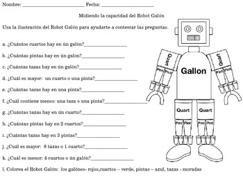 Capacity in spanish
