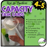 Capacity and Liquid Volume Task Cards US Customary & Metric Common Core Aligned