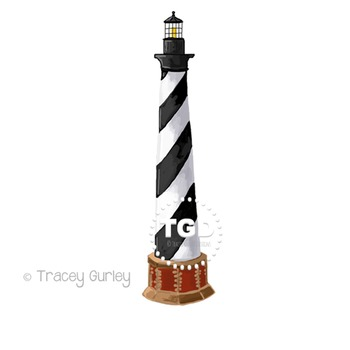 Cape Hatteras Lighthouse Clip Art Printable Tracey Gurley Designs