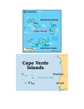 Cape Verde Map Scavenger Hunt