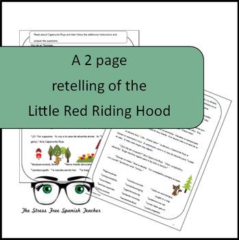 Spanish Reading Comprehension Practice CI Caperucita Roja Little Red Riding Hood