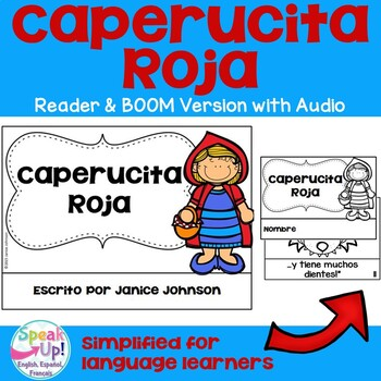 Caperucita Roja Simplified Red Riding Hood Spanish reader & Sentence forming pgs