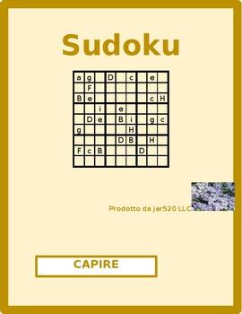 Capire Italian verb present tense Sudoku