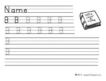 Capital B Handwriting Practice