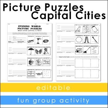 Vintage Puzzles - Capital Cities