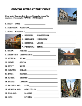Capital Cities of the World