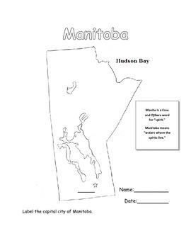 Capital City of Manitoba Map