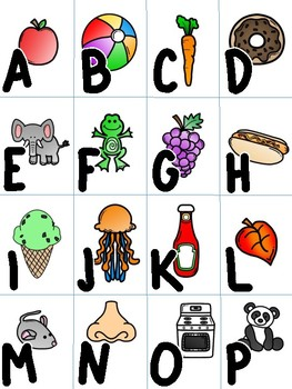 Capital Letter A-Z Memory Match Game