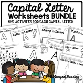 Multisensory Capital Letter Alphabet Center Activities {Th