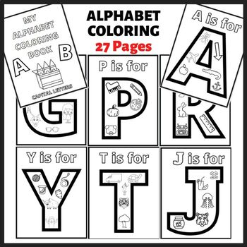 Capital Letter Alphabet Coloring Pages Printable By The Classy Classroom Vip