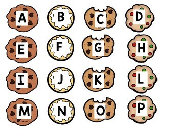 Capital Letter Alphabet Cookie Match