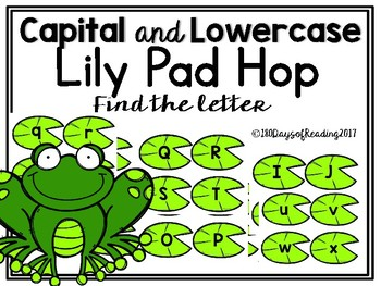 Capital and Lowercase Letter Alphabet Lily Pad Hop