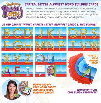 Capital Letter Alphabet Word Building Cards