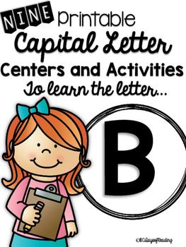 Capital Letter B Alphabet Center Activities