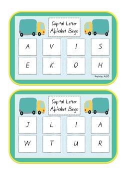 Capital Letter Bingo
