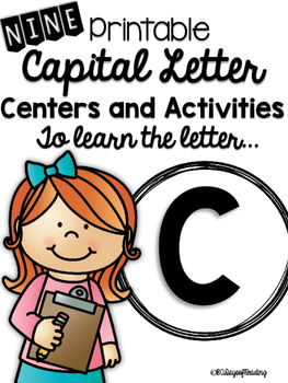 Capital Letter C Alphabet Center Activities