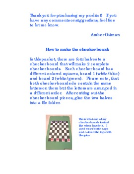 Capital Letter Checkers