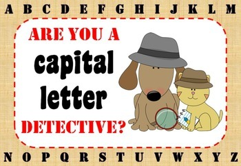 Capital Letter Detective Display