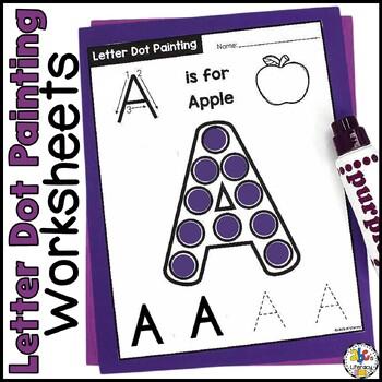Capital Letter Dot Painting Worksheets