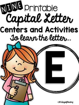 Capital Letter E Alphabet Center Activities