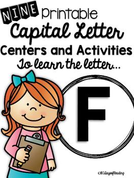 Capital Letter F Alphabet Center Activities