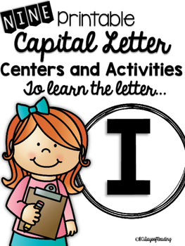Capital Letter I Alphabet Center Activities