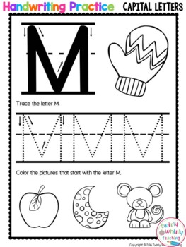 Capital Letter Handwriting Pages