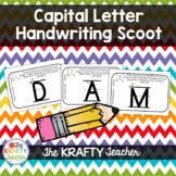 Capital Letter Handwriting Scoot Activity for Kindergarten