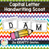 Handwriting Practice for Kindergarten - Capital Letter Scoot