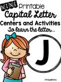 Capital Letter J Alphabet Center Activities